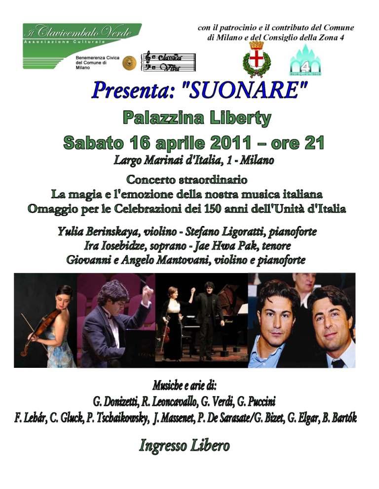 Concerto del 16 aprile 2011 alla Palazzina Liberty  di Milano