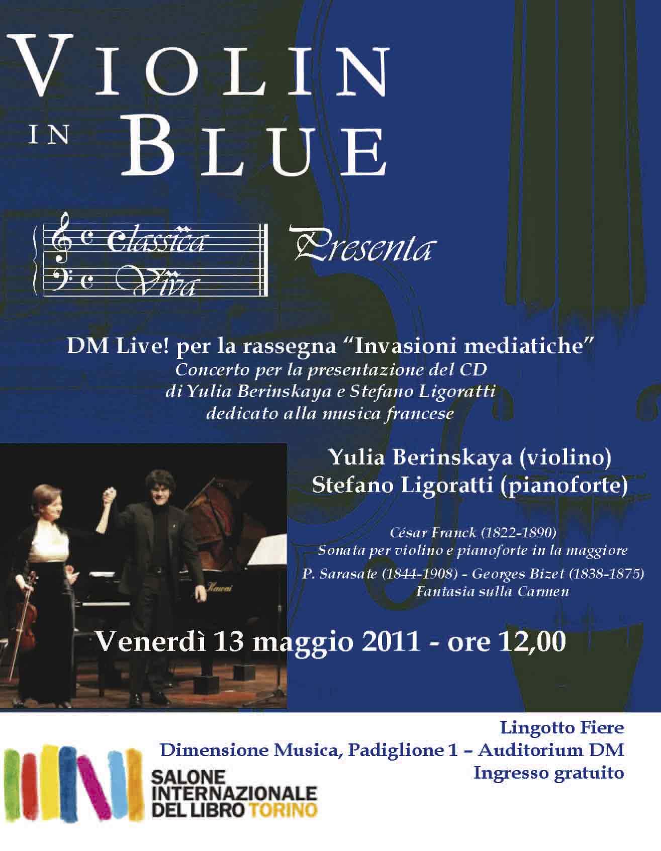 Concerto per la presentazione del CD di Yulia Berinskaya e Stefano Ligoratti (edizioni ClassicaViva) dedicato alla musica francese - Salone del Libro Torino 2011