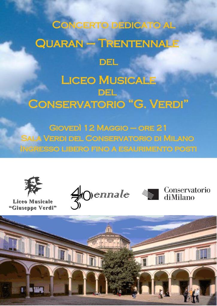 Concerto del Liceo Musicale di Milano per il suo quarantennale