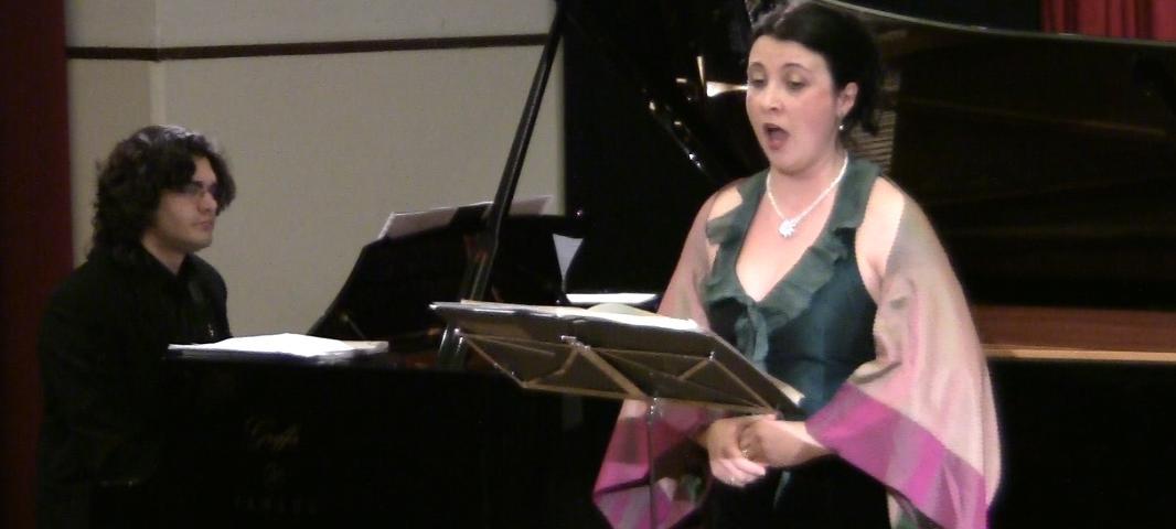 Il Soprano Monika Lukacs e il pianista Stefano Ligoratti in concerto con i Lieder di Liszt