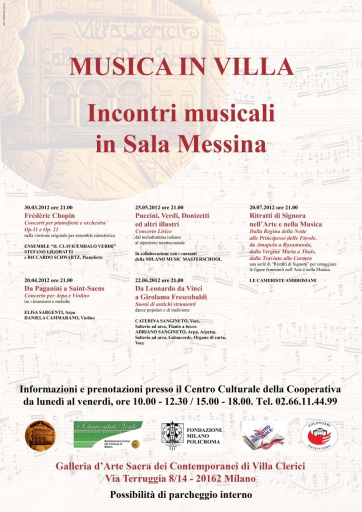 Locandina Concerti Villa Clerici 2012